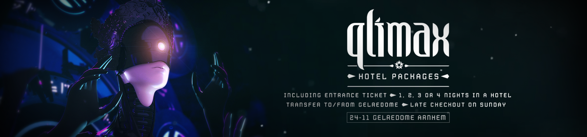 Qlimax Travel Website header